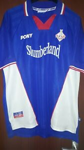 Oldham Athletic Home Shirt 1998-2000 Size L Pony Slumberland World Post! Retro