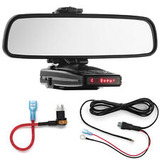 Mirror Mount Bracket + Direct Wire + Micro2 Add a Circuit for Escort 9500ix