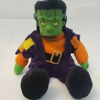Vtg 90s Halloween Monster Mash Singing Frankenstein Doll Plush Animated Rare EUC