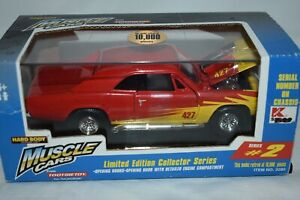 Tootsietoy Muscle Car 1:32 1966 Chevy Malibu Red W/Flames