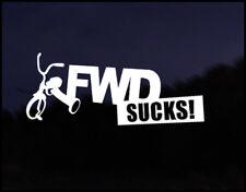 FWD Sucks Euro Vag Car VW Decal Sticker Vehicle Bike Bumper Vinyl Graphic Funny