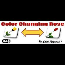 COLOR CHANGING ROSE BY MR MAGIC TRICKS GIMMICK CLOSE UP ILLUSION KIDS SHOW STAGE