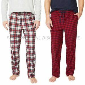 NAUTICA Men's 2-Pack Fleece Lounge Pant ~ Red/White ~ Size M L