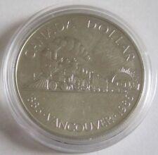 Kanada 1 Dollar 1986 100 Jahre Vancouver Silber BU