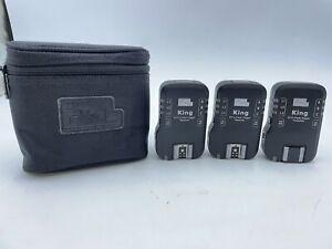 Pixel King Flash Trigger set for Canon E-TTL II, E-TTL. 1 Tx and 2 Rx
