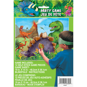 Dinosaur Party Game Stick The Spike Boys Birthday Supplies Fun 12 Players T-Rex