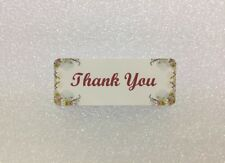 Thank You Stickers 30PCS Design#24 (Burgandy|Dark Red)