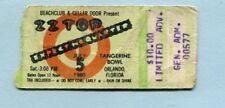 1980 Zz Top Rossington Collins concert ticket stub Rock Super Bowl Orlando Fl