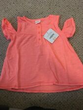 Gymboree Girl 3T Off The Shoulder Bright Orange T Shirt NWT