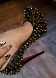 Christian Louboutin Spike Accents Pumps