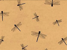 Dragonfly Gift Wrap Tissue Paper- Printed- 10 Large Patterned Sheets