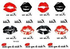 T010 Temporary Einmal TATTOO KUSSMUND Lippen Kuss Küssen Haut Körper schmuck Tat