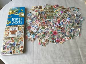 2000+ WORLDWIDE STAMPS  FROM 56 COUNTRIES WITH 2 STAMP ALBUMS