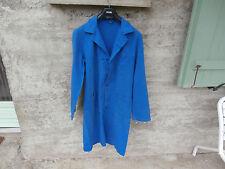 Ancienne Blouse Bleu Maître d'école atelier travail A. LAFONT Coton Taille 2