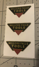 Millers Falls Tools Since 1868 U.S.A. Decals reproduction 1 1/2� Wide Set 3