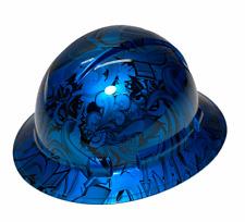 Hard Hat Ridgeline Hydro Dipped Full Brim Custom Light Blue Kandy Graffiti