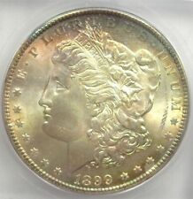 1899-O MORGAN SILVER DOLLAR ICG MS66+ RAINBOW! VALUED AT $550!
