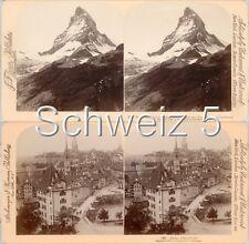 18 STEREOFOTOS SCHWEIZ SCHWITZERLAND SWISS, Serie 5