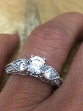 1.00 Ct Round Cut Diamond Engagement Ring In 18K White Gold Finish