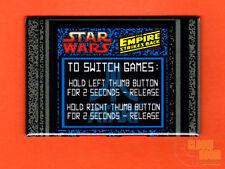 "Atari Star Wars/Empire Strikes Back multigame 2x3"" instructional magnet - yoke"
