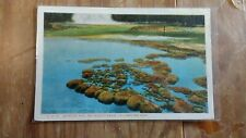 C 1935 Sapphire Pool and Biscuit Basin Yellowstone Park Wyoming Postcard