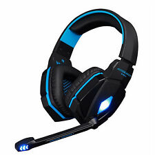 Quality EACH G4000 Blue LED Surround Sound Gaming Headset Headphone + Microphone