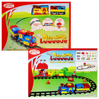 TOY TRAIN PUSH ALONG LOCOMOTIVE SLIDE LOCK TRACK MUSIC CHILDREN GIFT PLAY SET