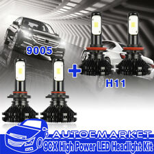 For Chevrolet Silverado 1500 2500 3500 LED H11+9005 Car Headlight Combo Kit USA