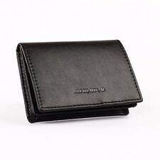 Men's Bifold Genuine Leather Credit/ID Cards Holder Business Name Wallet Purse
