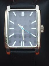 Ben Sherman Gents Classic Style Watch Navy Blue Face Black Faux Leather Strap