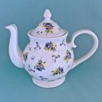 ROY KIRKHAM New FLORAL Fine Bone China TEAPOT Made in  England