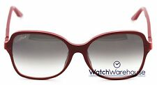 Cartier Double C Decor Burgundy 58/16/140 Women's Sunglasses ESW00101 New Orig