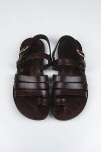 Original Tom Ford Men Leather Gladiator Sandals Brown Shoes size 7.5 UK, 8.5US
