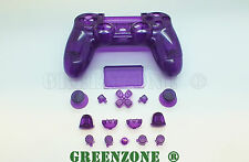Clear Purple Custom Replacement Shell Mod Kit for PS4 Playstation Controller