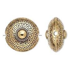 7465 Acrylic Gold finished puffed round beads 23mm PK10  *UK EBAY SHOP*