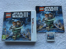 Lego Star Wars III 3 The Clone Wars Nintendo 3ds sehr schnelle Post komplett