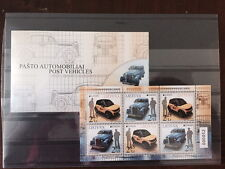 Lithuania MNH booklet - Postal vehicles - EUROPA issue 2013 numbered
