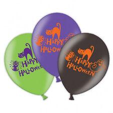 6 Happy Halloween Globos Decoración Fiesta Varios Colores