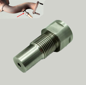 M18 x 1.5 Straight 02 O2 Oxygen Sensor Downpipe Extension Spacer Car CEL Fault