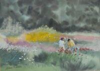 William G Perkins (British 20th Century) Beth Chatto Gardens Signed  Watercolour