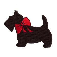 Sew On Motifs or Iron On Dresses Garments Applique Patches 4.5 cm - Scotty Dog