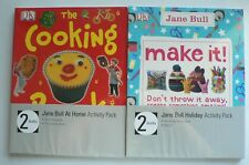2 x Jane Bull activity packs - At Home and Holiday - 2 books in each pack
