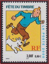 2000 FRANCE N°3303** Tintin & Milou (Bandes dessinées) FETE DU TIMBRE MNH