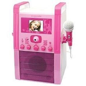 Easy Karaoke EKS516 Karaoke Machine with Screen - Pink
