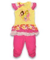 bébé fille disney princesse Haut & legging 2 pièces Ensemble Costume tailles 2-4
