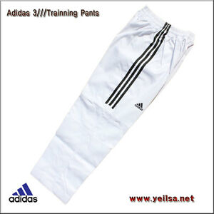 Adidas Taekwondo 3-Stripe Dobok Pants/KARATETO/martial arts/Tranning Pants/White