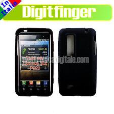 LG P920 Optimus 3D CUSTODIA Cover GUSCIO Case in morbido SILICONE Nero