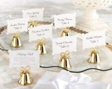 72 GOLD Kissing Bells Heart Wedding Favor Placecard Holders