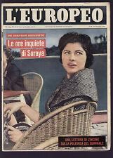 EUROPEO 47/1959 MELONE SORAYA ANNA MAGNANI TENNESSEE WILLIAMS BENZI TIERNEY