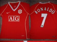 Señoras Manchester United Ronaldo Reino Unido 14/16 Nike Fútbol Camisa Jersey Top